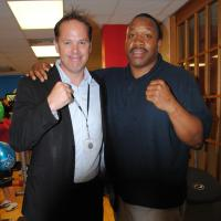 YMCA CEO Richard James and Tim Witherspoon