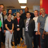 Tim Witherspoon and YMCA members, guests and staff