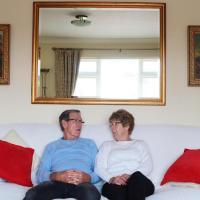 Grandparents celebrating their 50th wedding